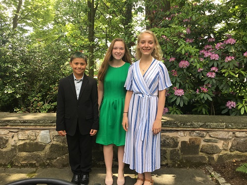 2019 PA Letters About Literature Winners: Aaron Concepcion, Ireland McDyre, and Amaya Dressler