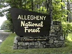 Allegheny National Forest Welcome Sign