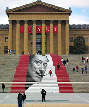 Art Museum Front Steps During Dali Exhibit