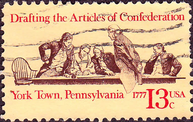 Postage Stamp of the drafting of the Articles of Confederation