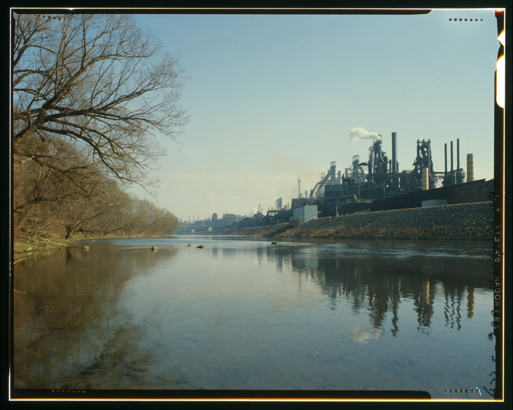 The riverside next to the Bethlehem Steel Plant