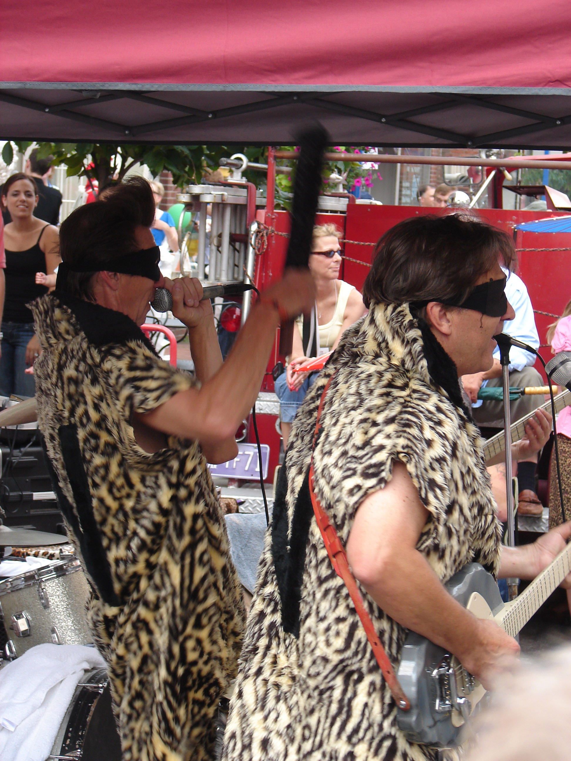 A Band of Neanderthals plays a gig at the Blobfest