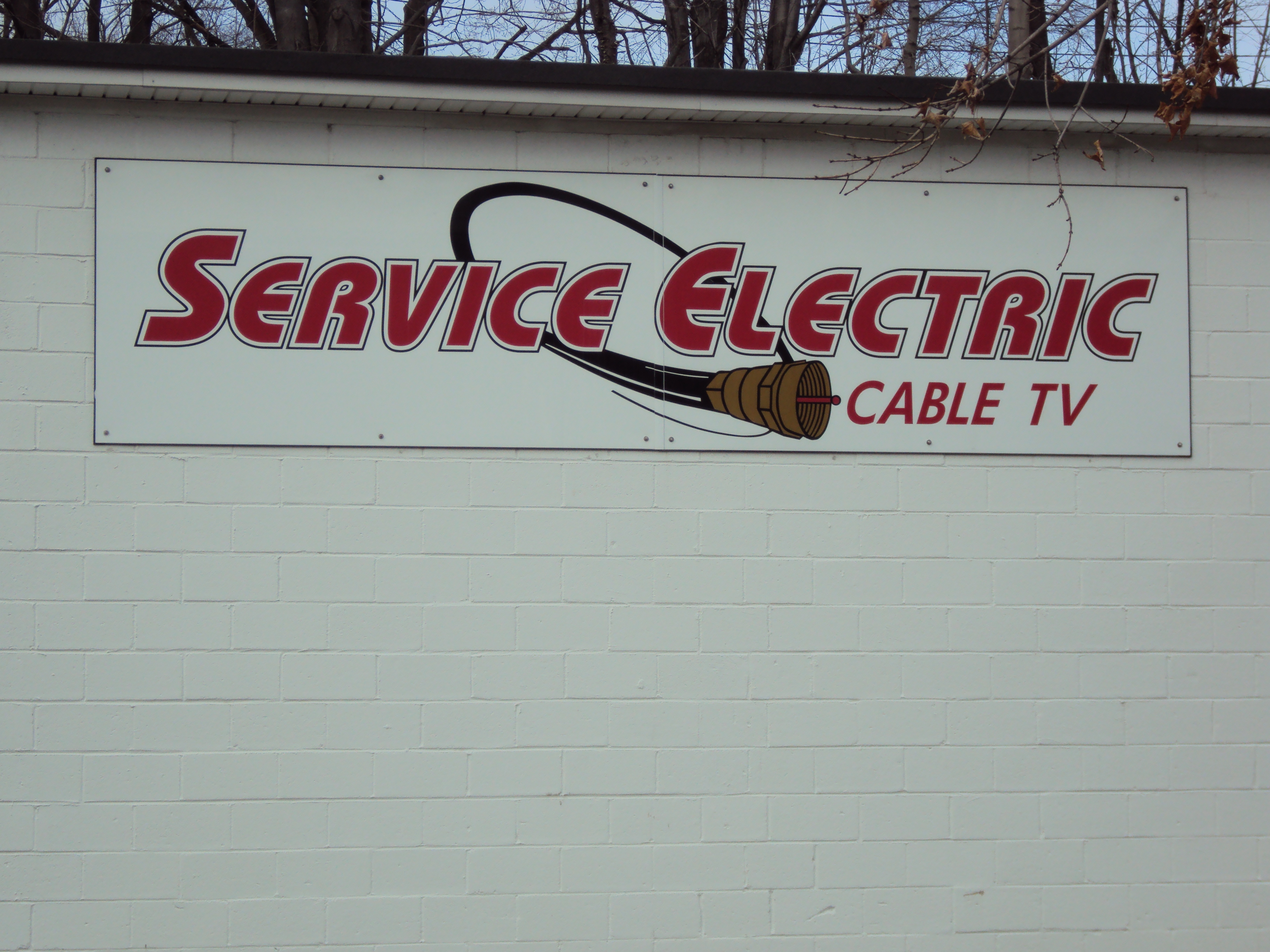 Service Electric Logo showing co-axial cable