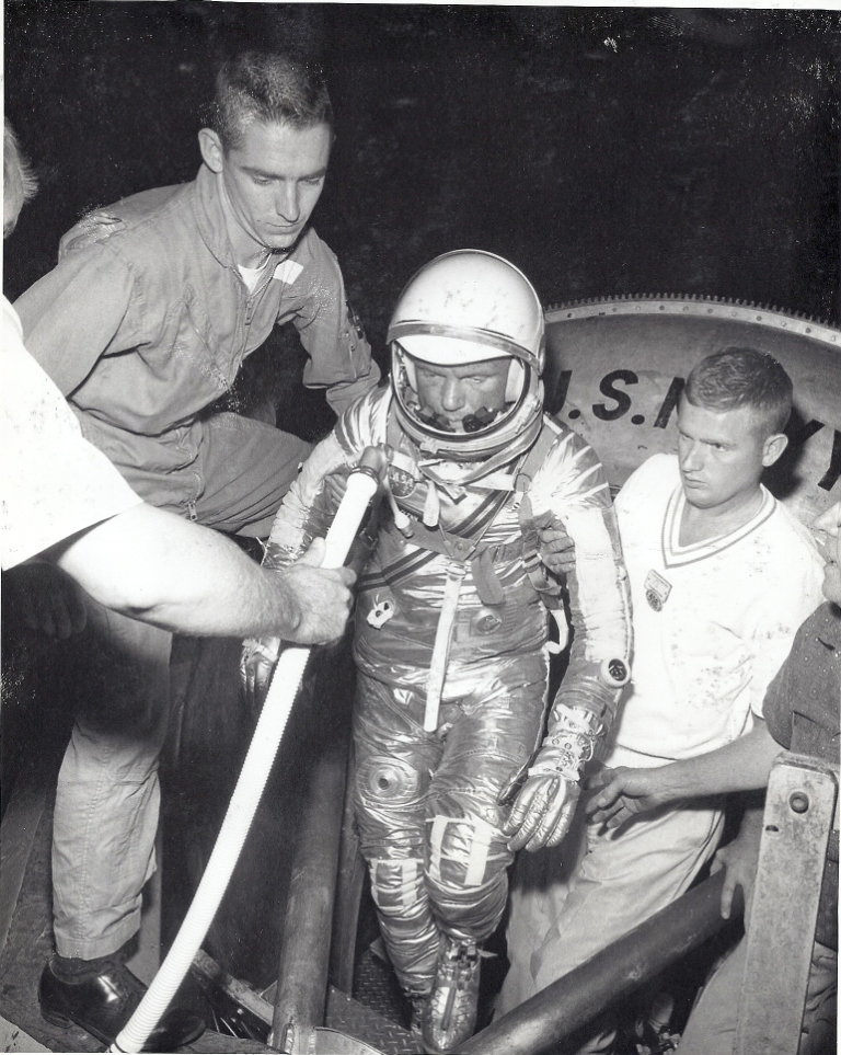 John Glenn exiting the Johnsville Centrifuge in 1960