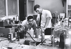 Students working in the Chandler Lab