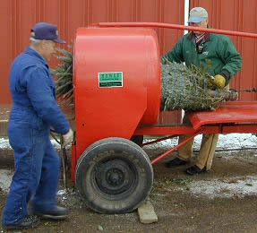 Used Christmas Tree Baler