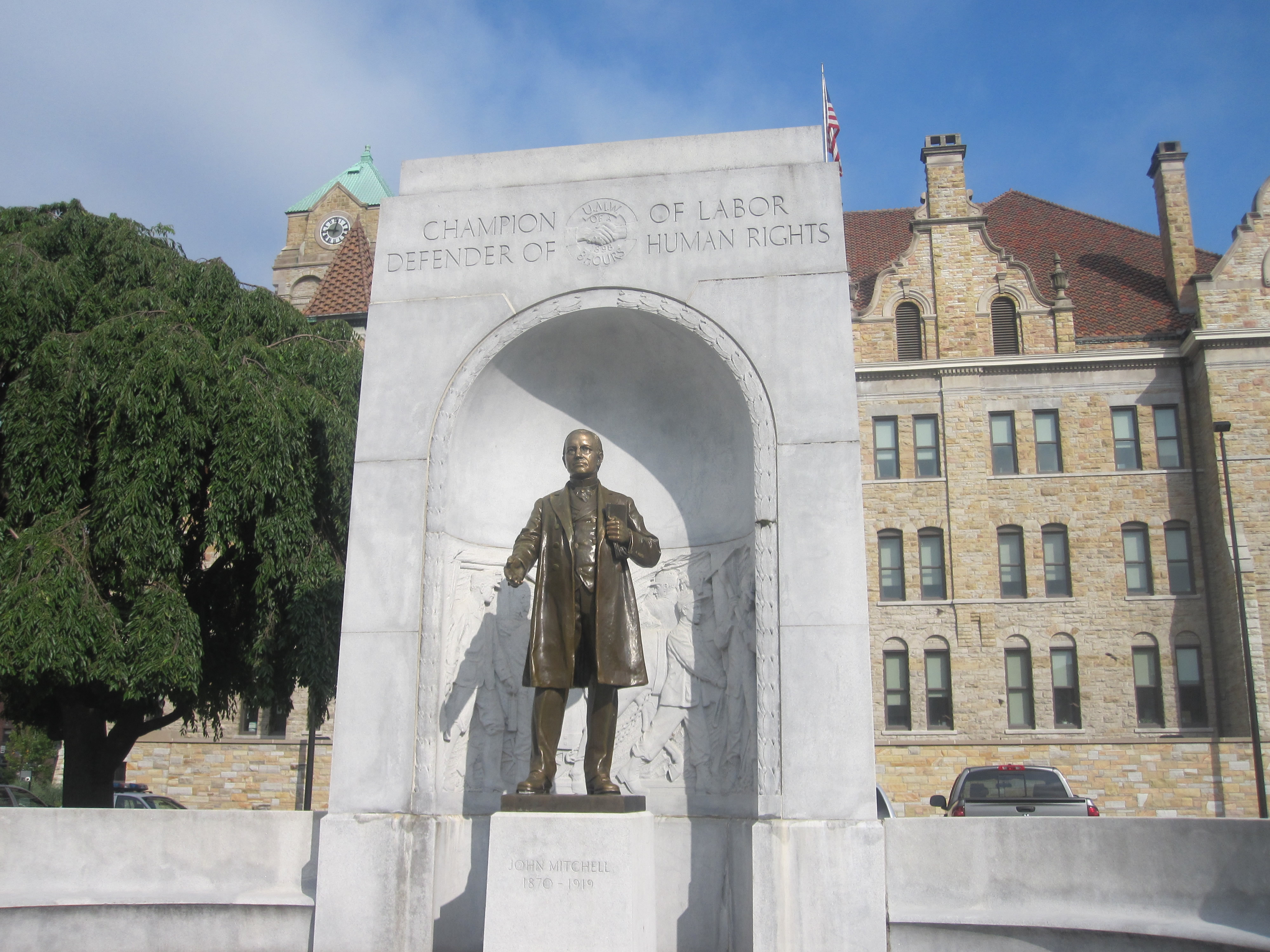 Monument to John Mitchell in Scranton