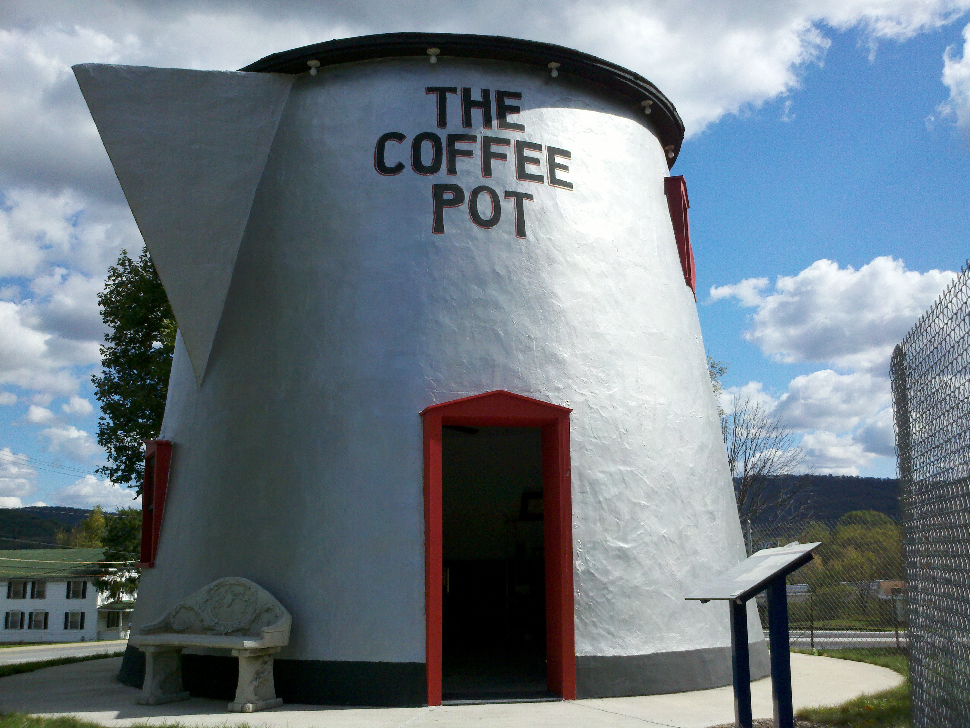 The restored Bedford Coffee Pot