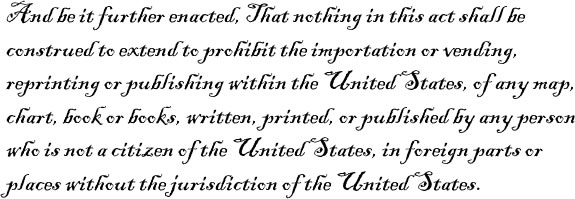 Text of part of the federal Copyright Law of 1790