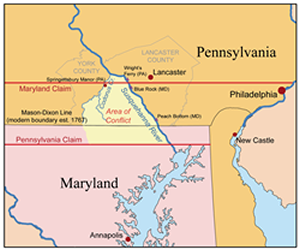 Our Most Famous Border The Mason Dixon Line Pennsylvania Center