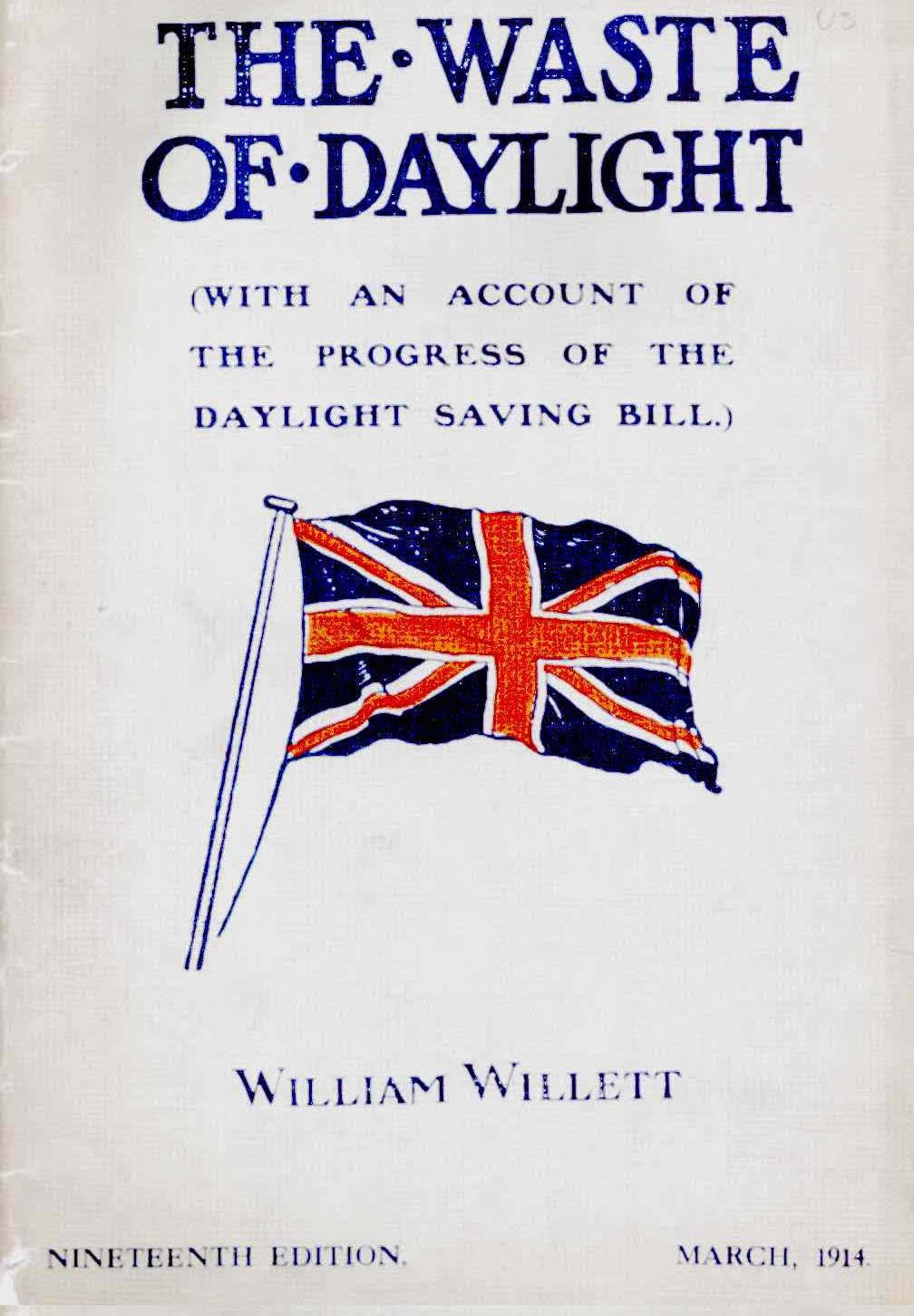 Cover of William Willett's Book The Waste of Daylight