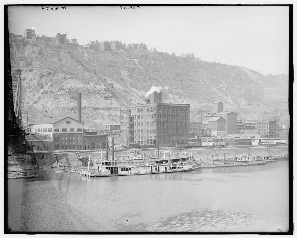 Early view of the Incline from below