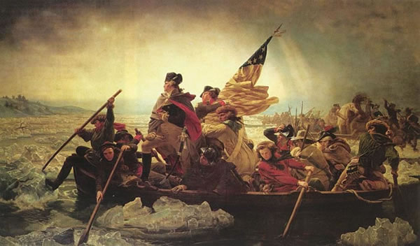 Emanuel Leutz' painting, Washington Crossing the Delaware