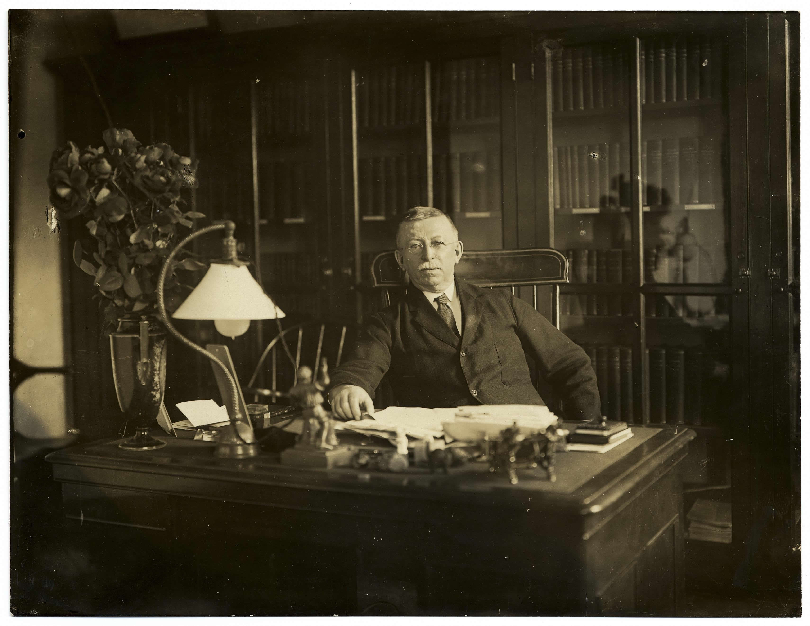 Edgar Fahs Smith at his desk