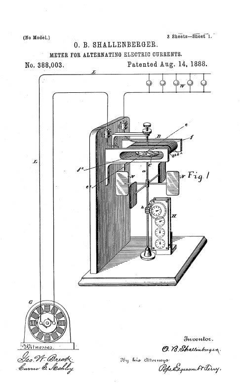Electric Meter Patent Diagram