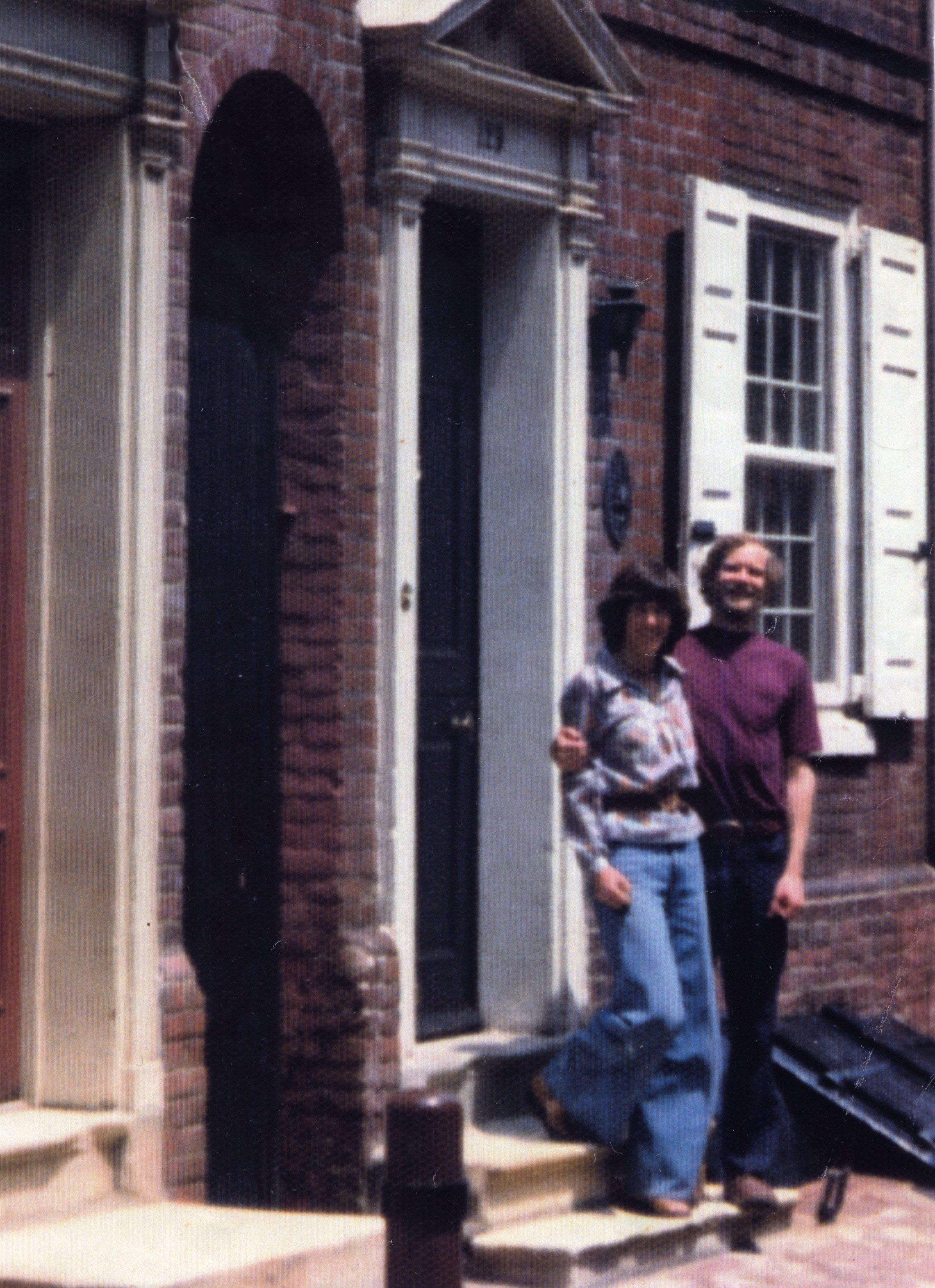 Kettell Family in front of their new house in 1975