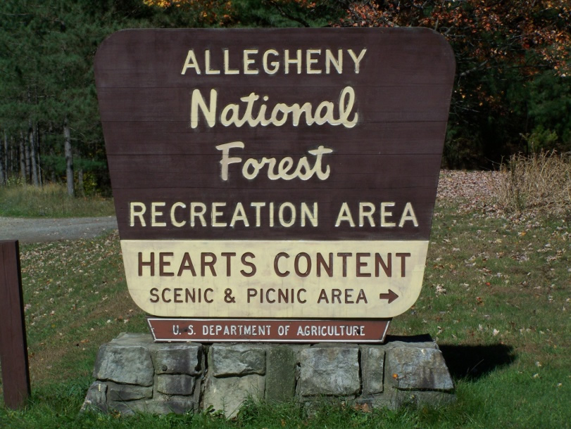 Entrance to Heart's Content Scenic Area