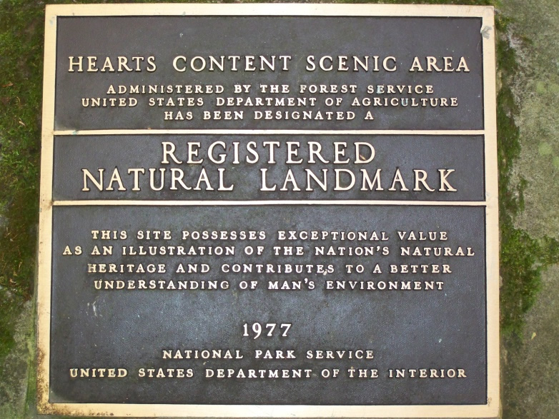 Natural Landmark Plaque at Heart's Content