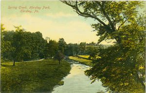 1908 postcard showing the park