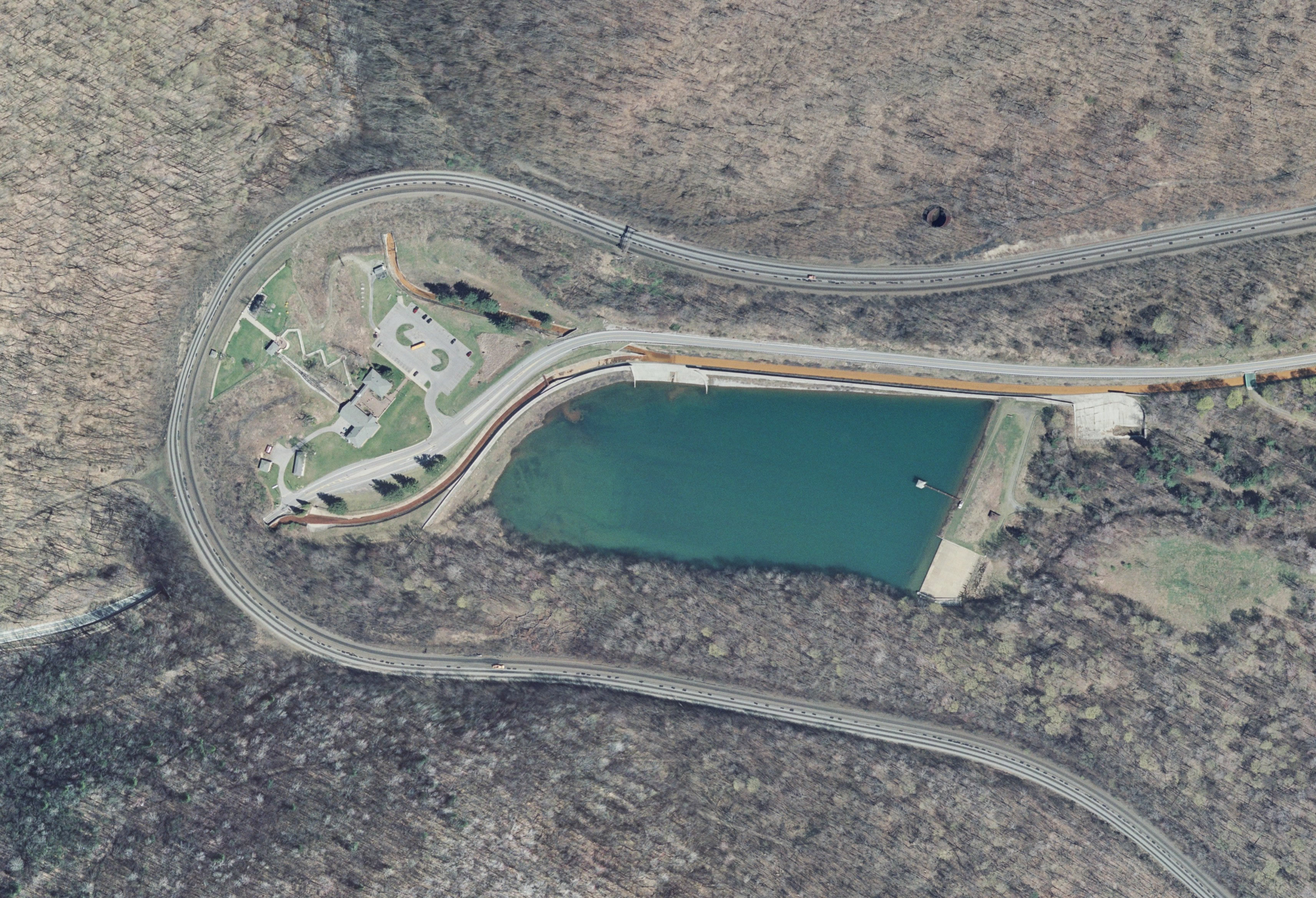 Aerial view of the Horseshoe Curve