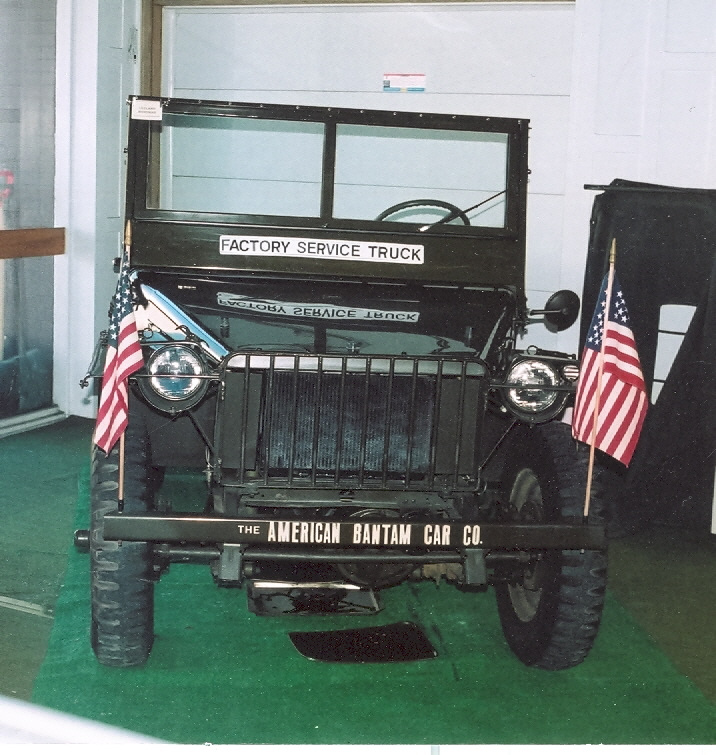 Facing a Jeep at the Butler County Historical Society