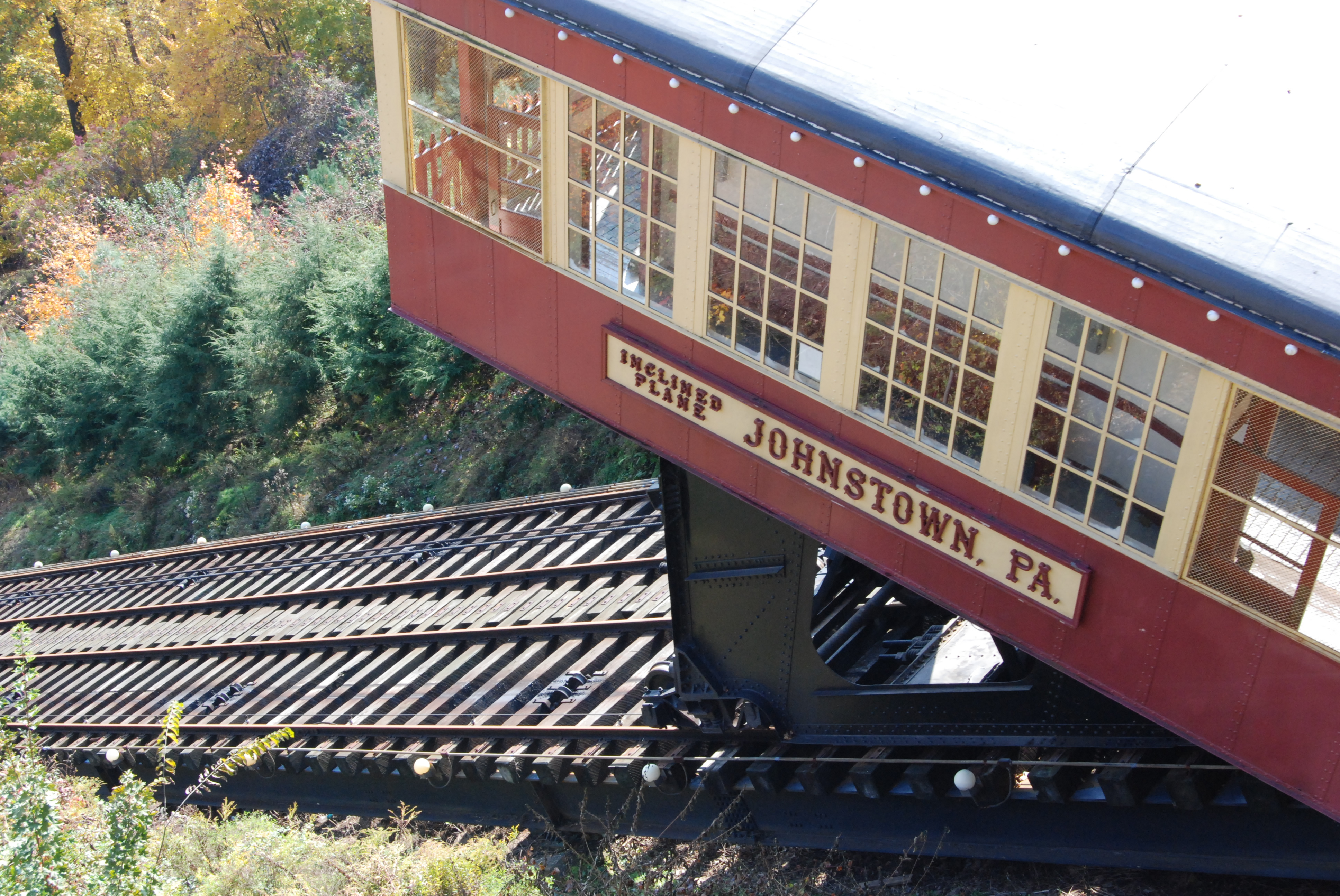 Closeup of car on the Inclined Plane