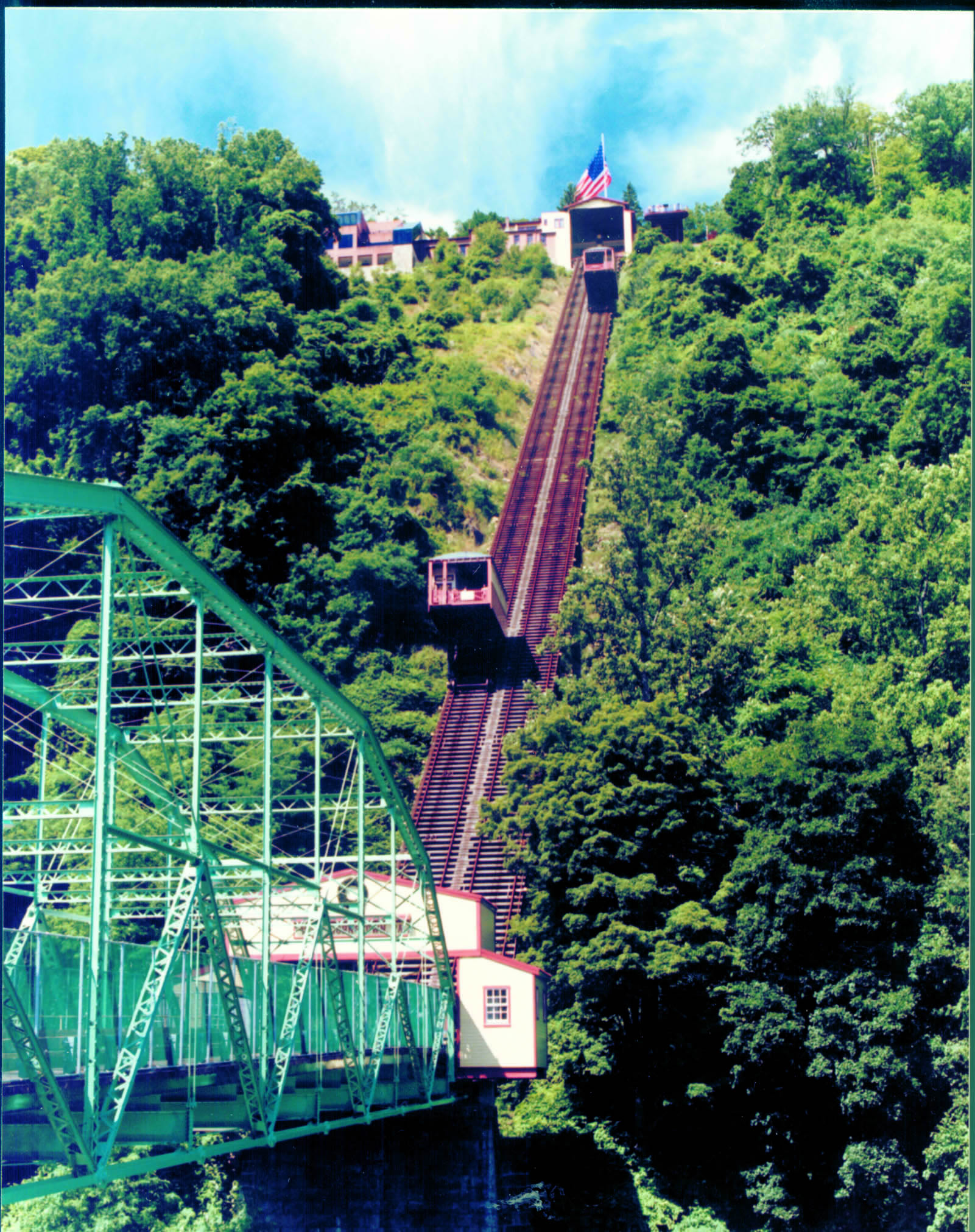 Angled picture of the Johnstown Inclined Plane