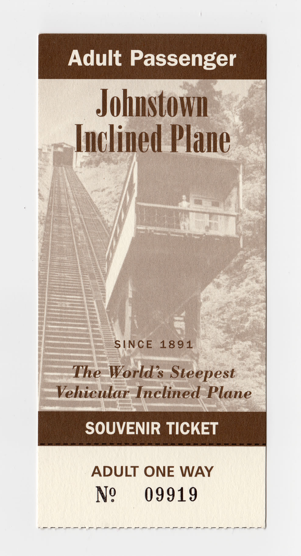 Ticket to ride the Johnstown Inclined Plane
