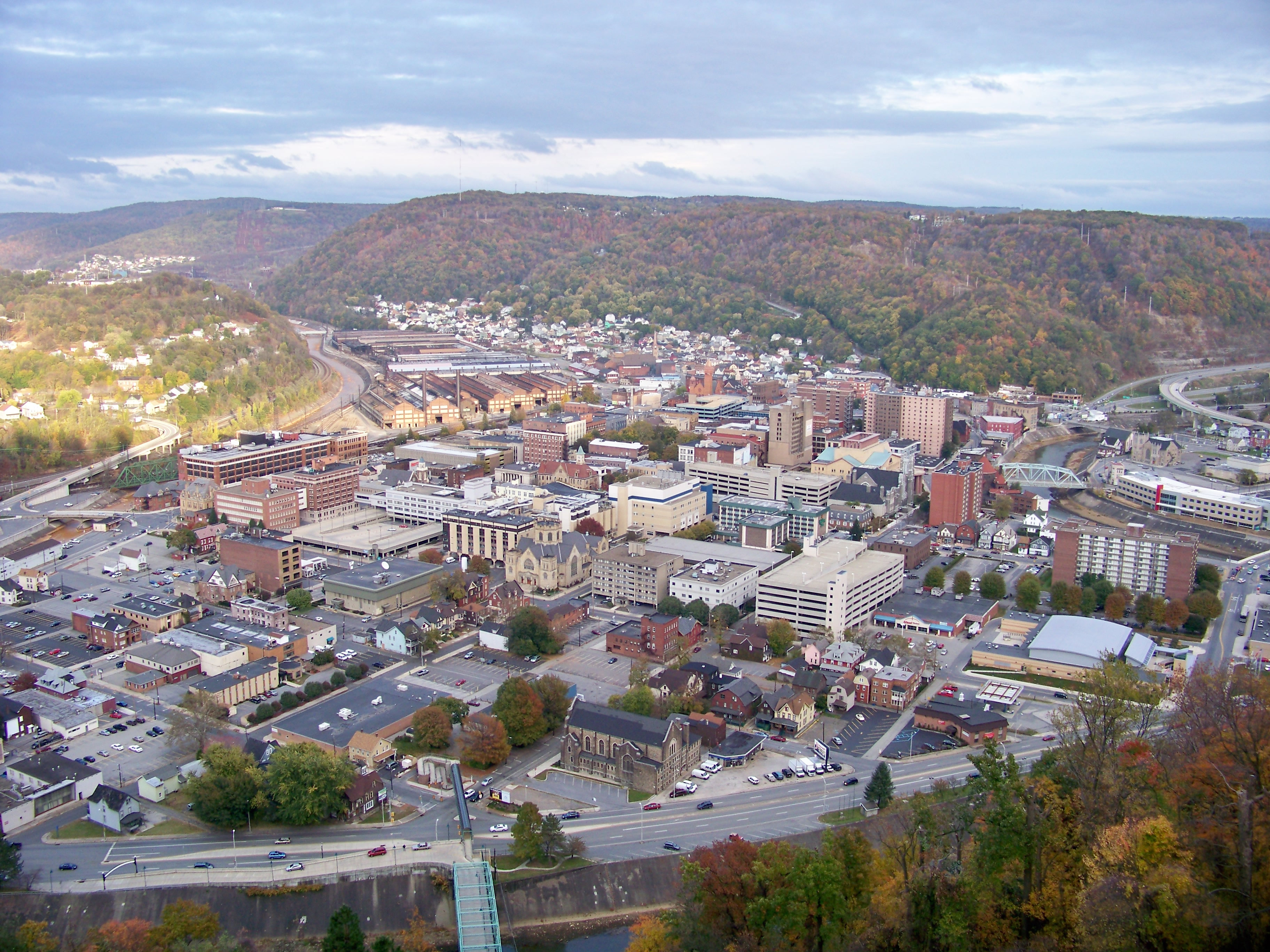 View of Johnstown from the Inclined Plane