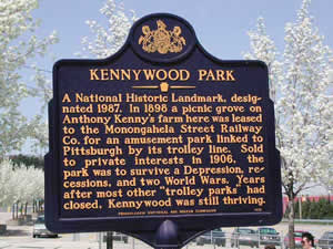 State Historical Marker for Kennywood