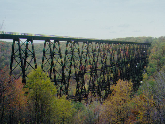 The Kinzua Bridge before its collapse