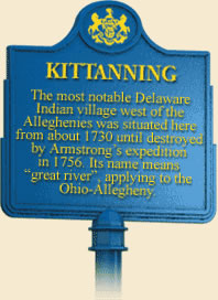 Historical Marker of the Battle of Kittanning