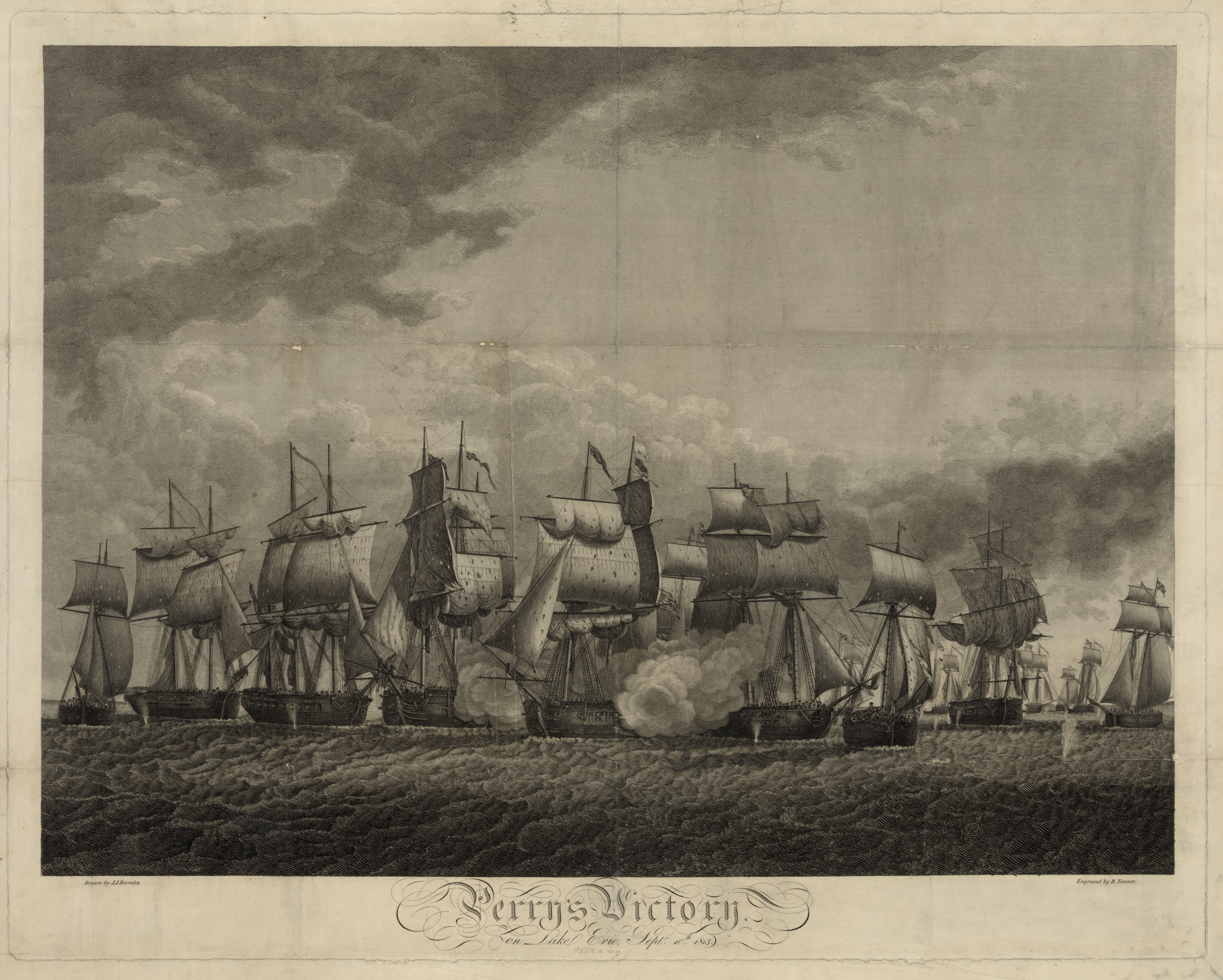 Engraving of Perry's Victory at the Battle of Lake Erie