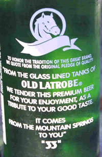 Rolling Rock Label