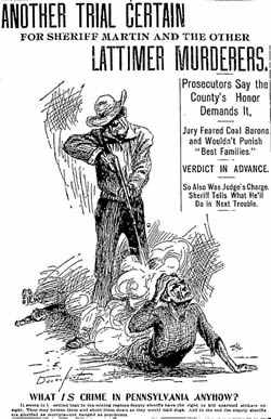 Lattimer Trial as depicted by the New York Evening Journal