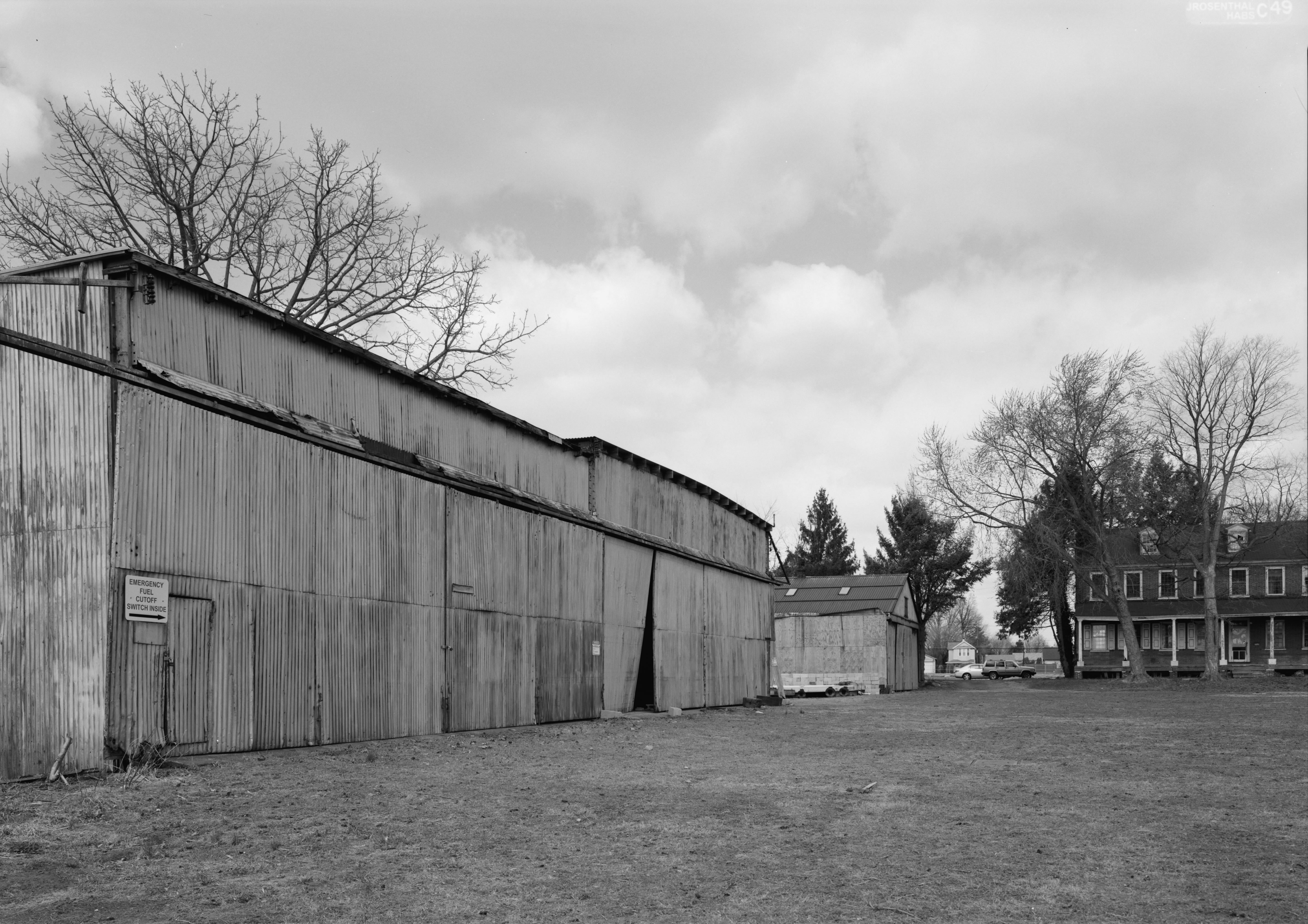 Marine Plane Hangars on the grounds of the Lazaretto