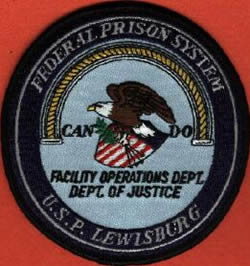 Lewisburg Federal Penitentiary Workers Patch