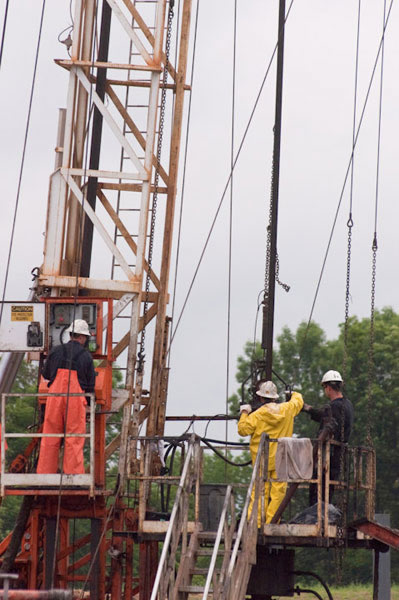 Drilling Rig at a Marcellus Site