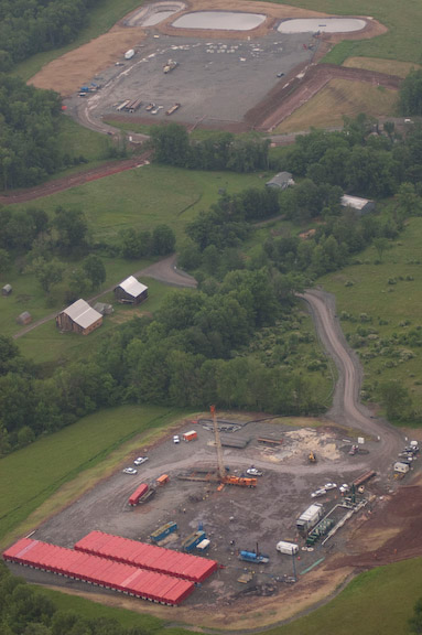 Marcellus Drilling Site in Bradford County