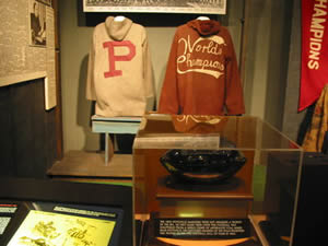 Pottsville Maroons Memorabilia Display