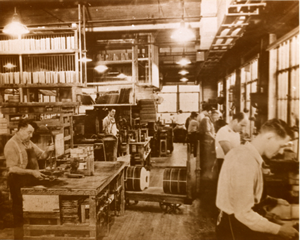 North Street Factory, crowded floor