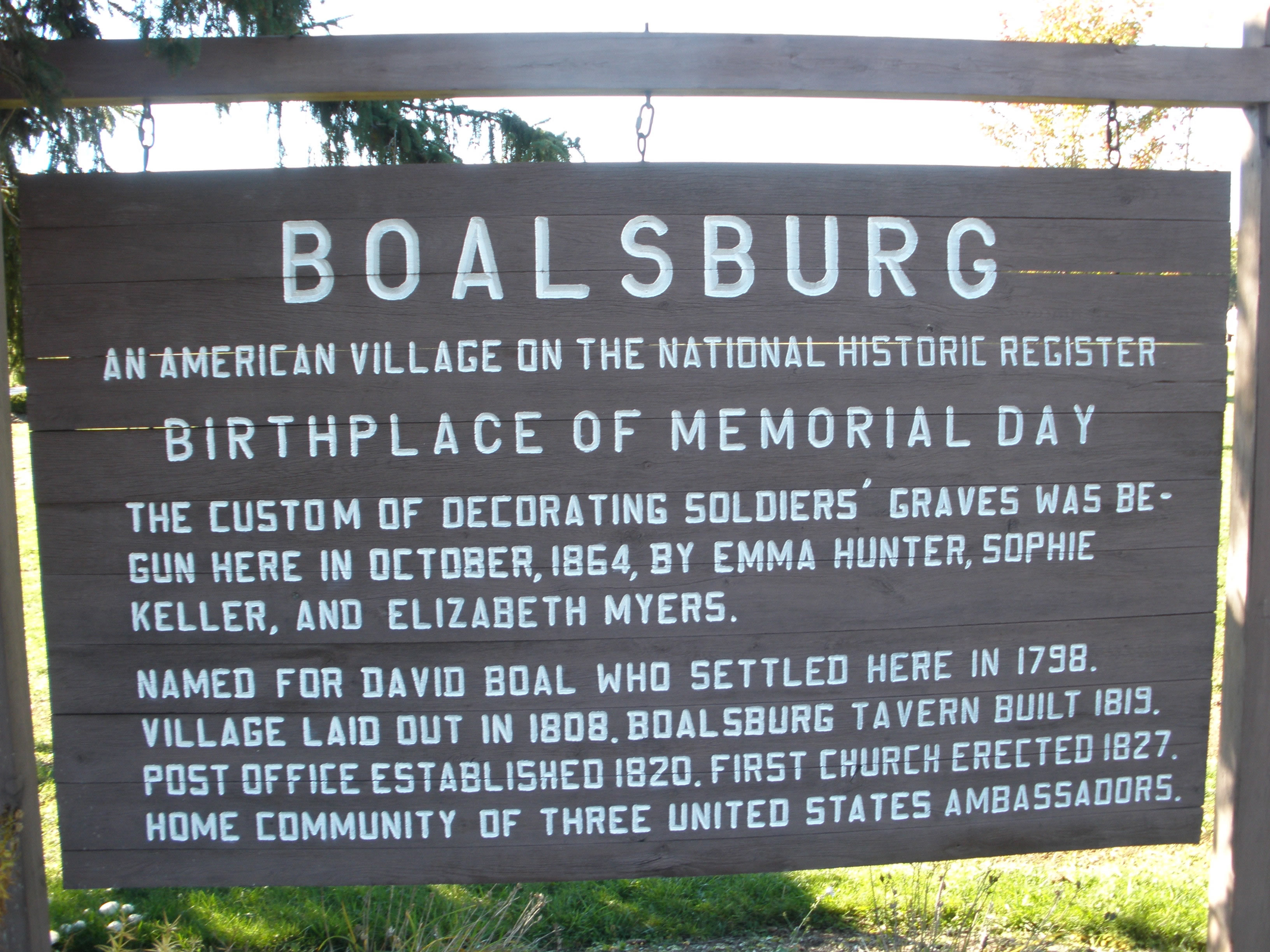 Welcome Sign to Boalsburg