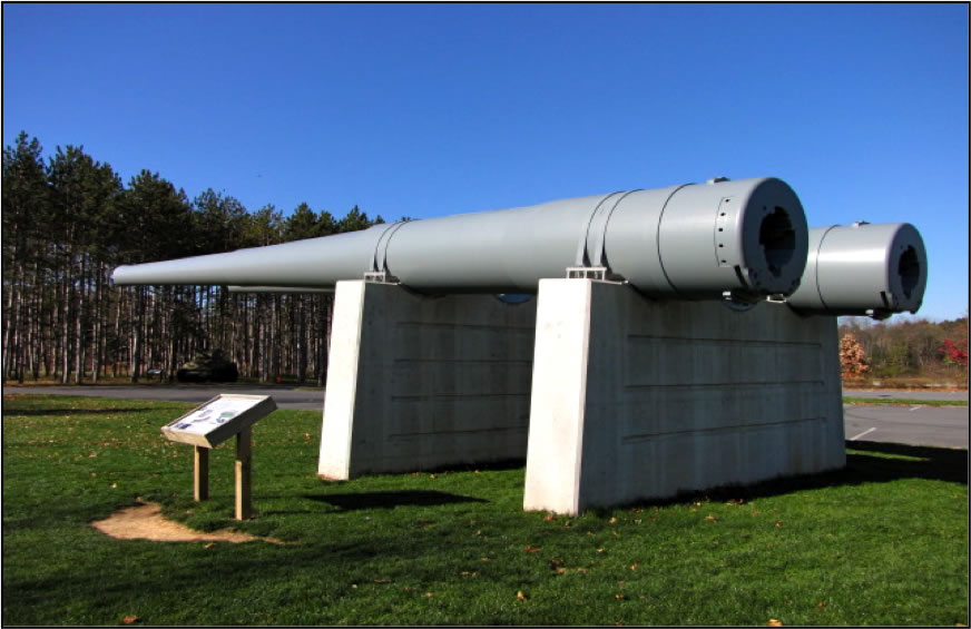 The guns of the U.S.S. Pennsylvania