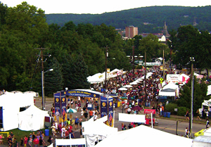 Crowds at Musikfest in Bethlehem