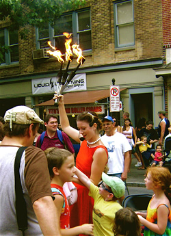 Fiery torches at Musikfest