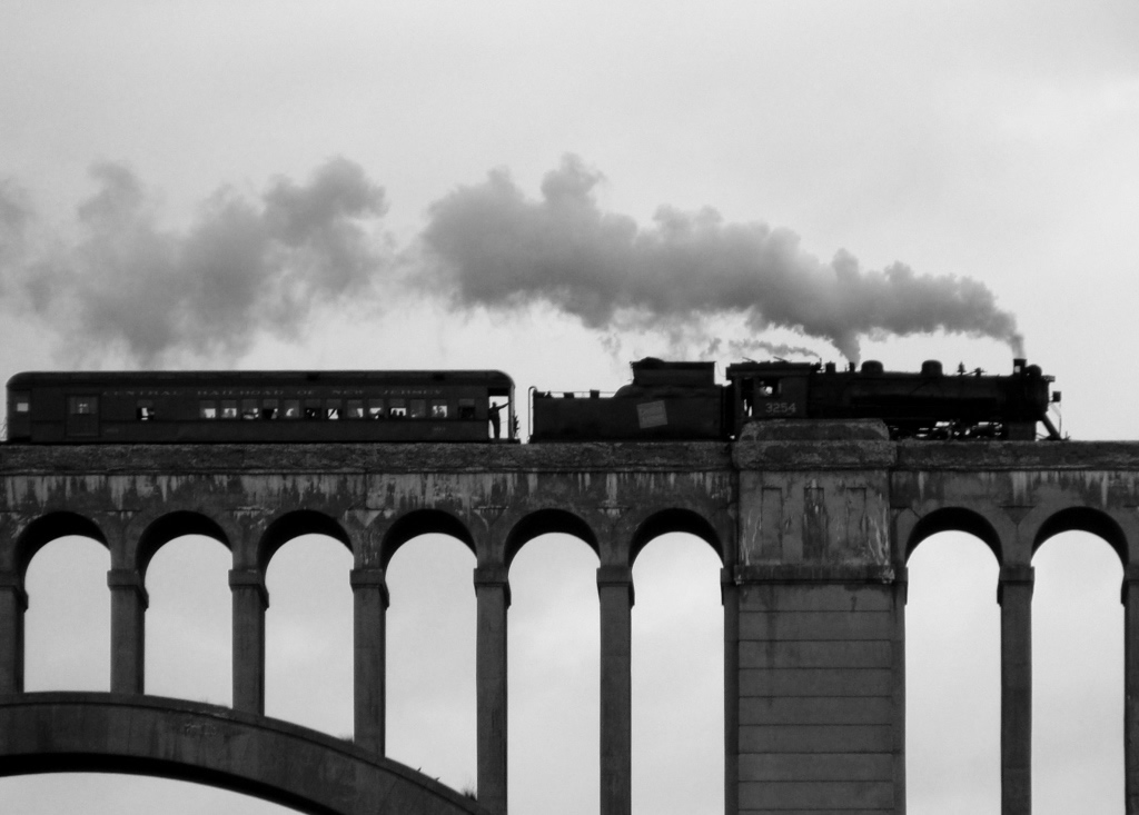 Train crossing the Nicholson Bridge