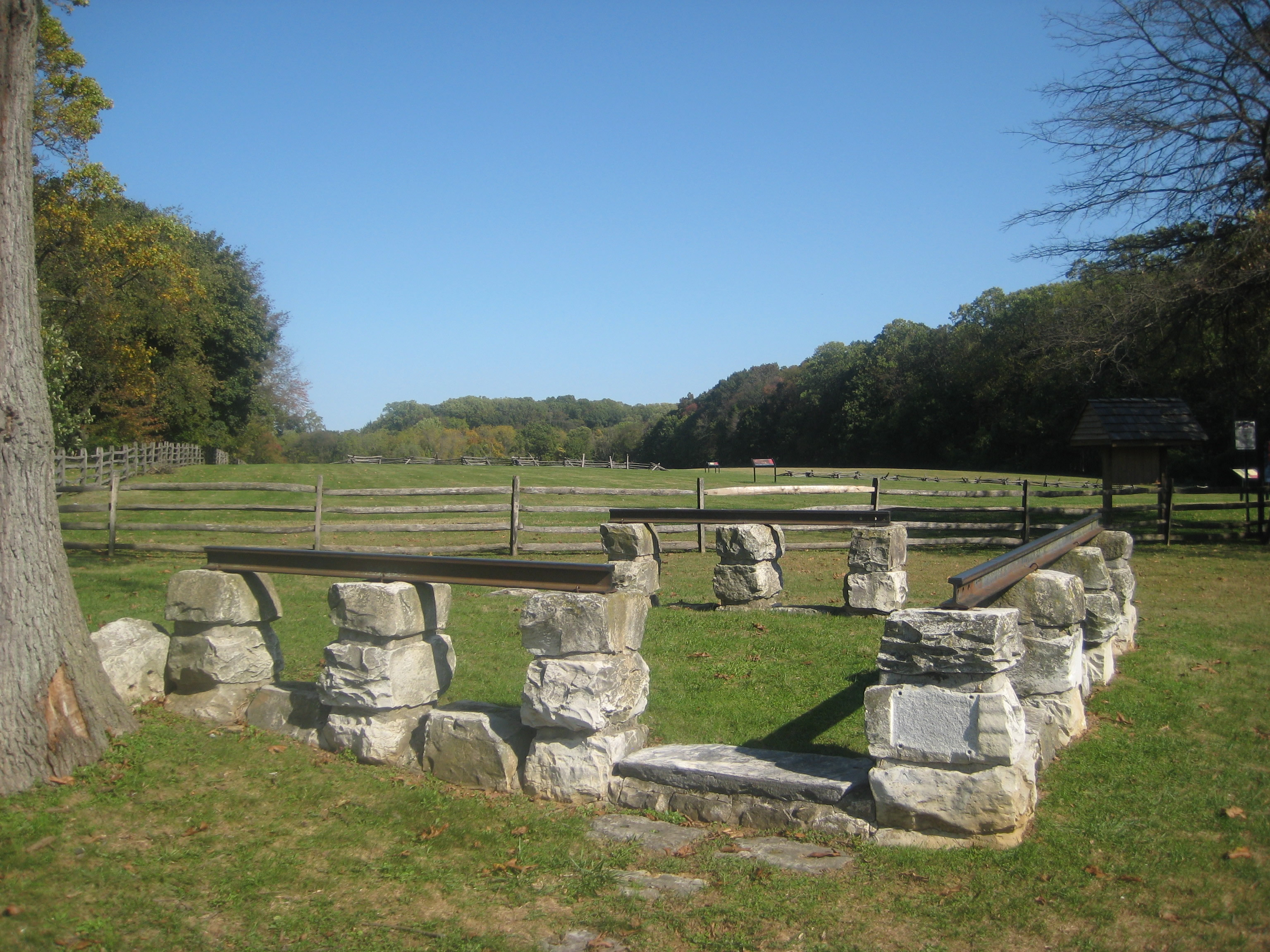 Fences and Structure at Paoli Battlefield