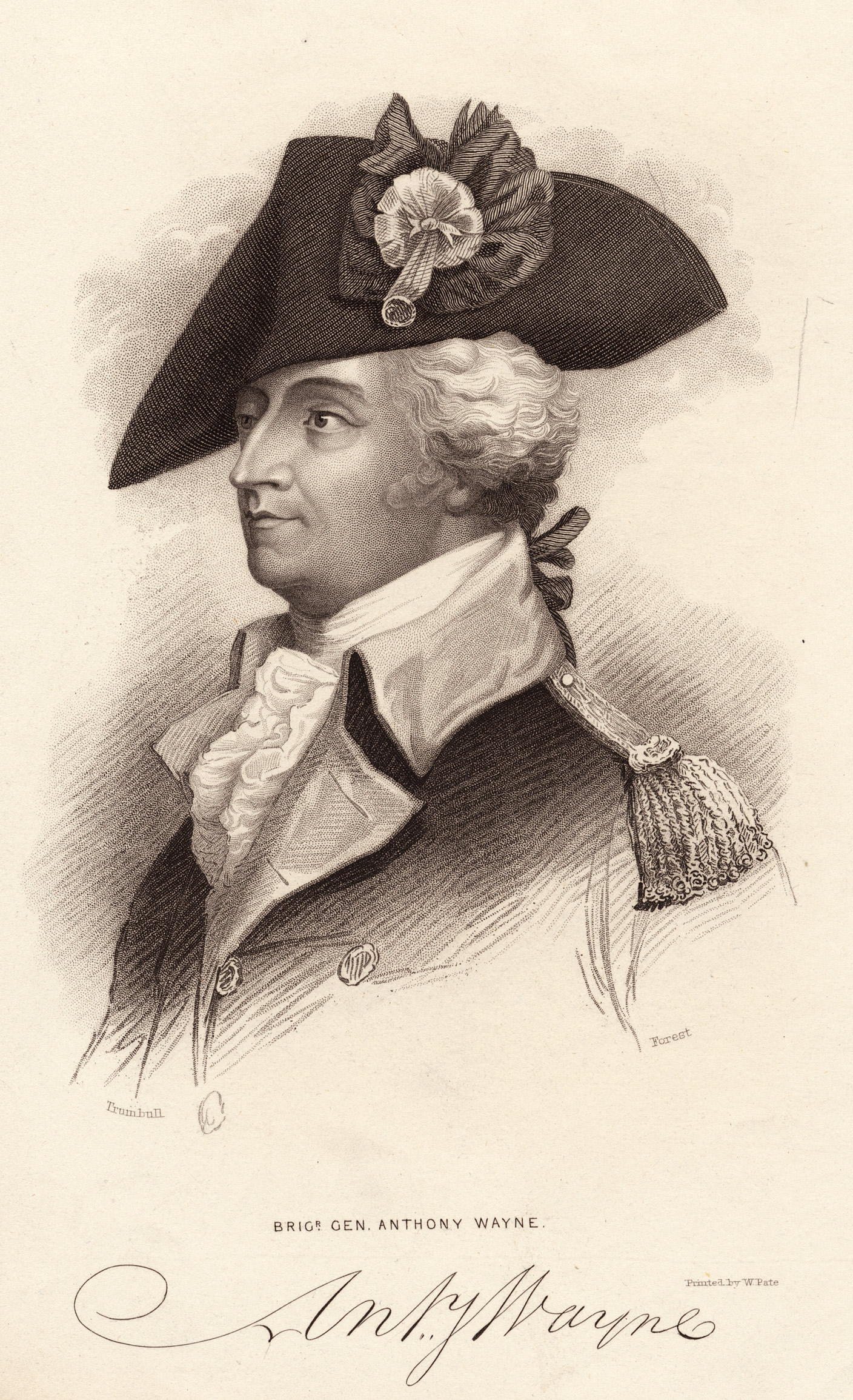 Portrait of General Anthony Wayne by John Trumbull
