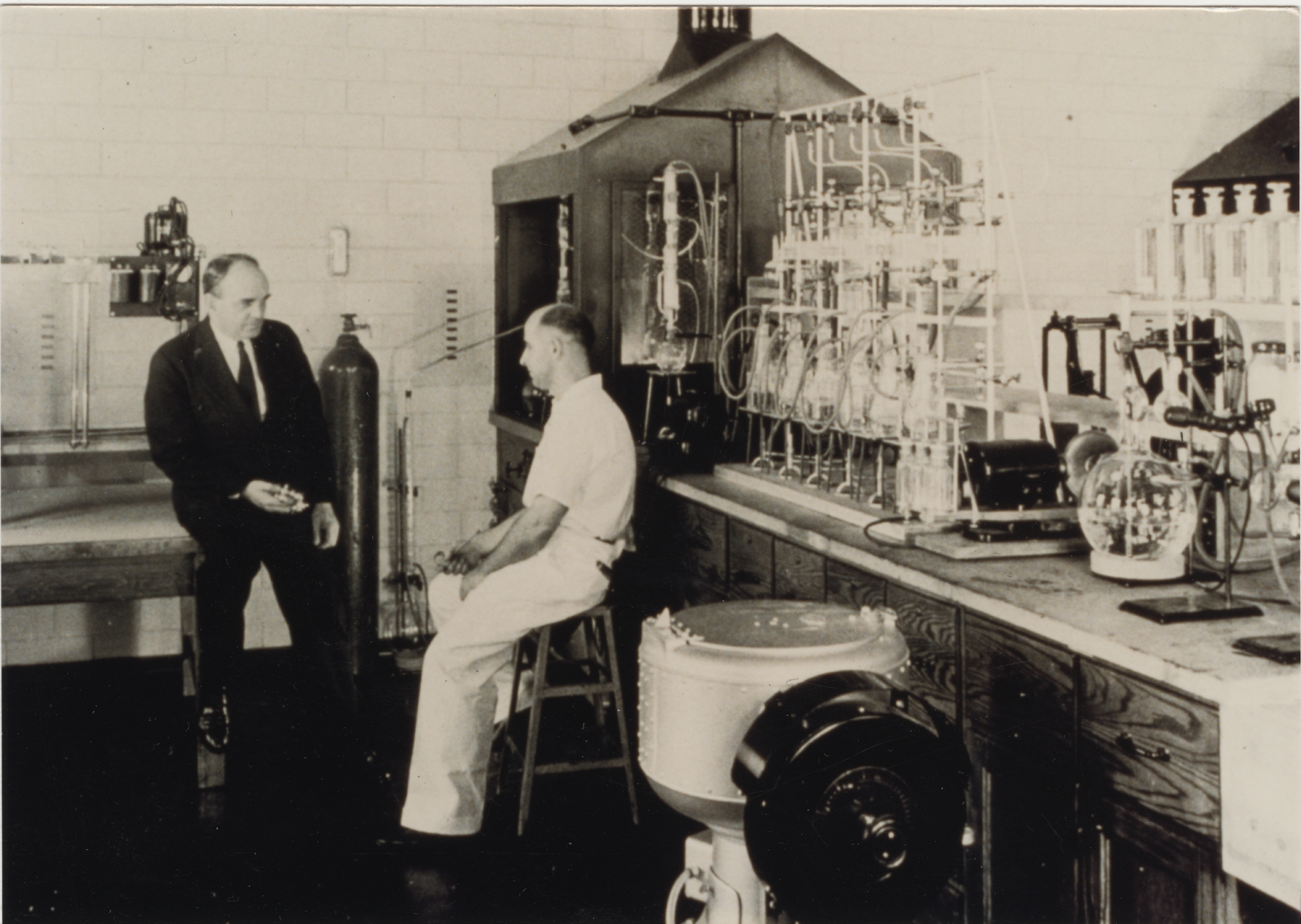 Russell Marker in his Penn State Lab