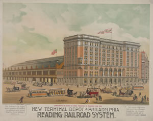 Reading Railroad Terminal in Philadelphia